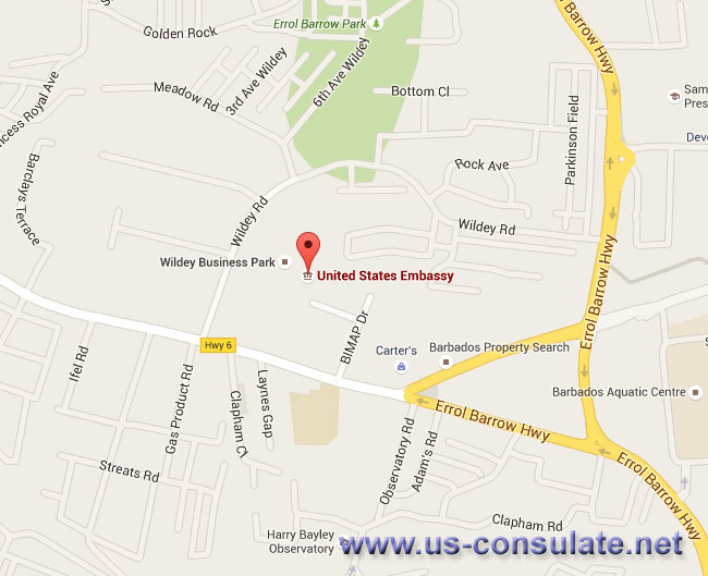 US Embassy In Barbados US Embassy - Us embassy map