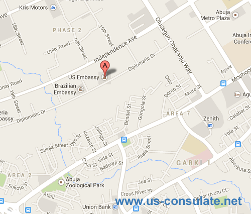 US Embassy In Nigeria US Embassy - Us consulate dubai map