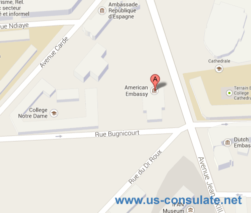 US Embassy In Senegal US Embassy - Us embassy map