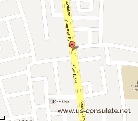 map US Embassy in Libya